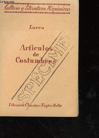 ARTICULOS DE COSTUMBRES PRESENTES PAR RAOUL J. MICHEL