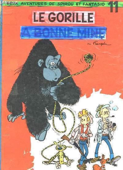 DEUX AVENTURES DE SPIROU ET FANTASIO - LE GORILLE A BONNE MINE - N°11
