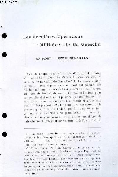 Les dernières Opérations Militaires de Du Guesclin. Sa mort - ses Funérailles (Ouvrage photocopié)