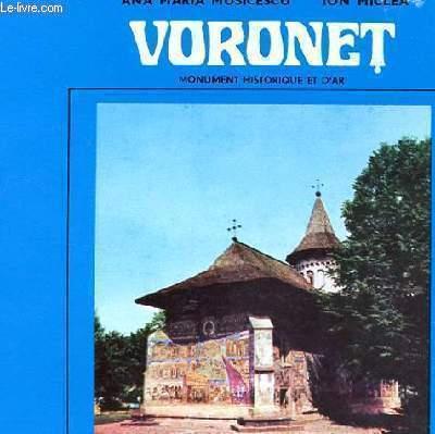 VORONET - MIONUMENT HISTORIQUE ET D'ART