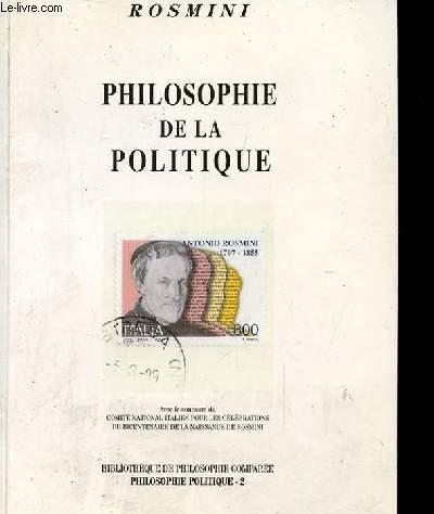 PHILOSOPHIE DE LA POLITIQUE