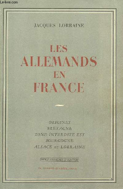 LES ALLEMANDS EN FRANCE