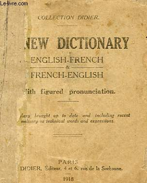 NEW DICTIONARY ENGLISH-FRENCH FRECH-ENGLISH
