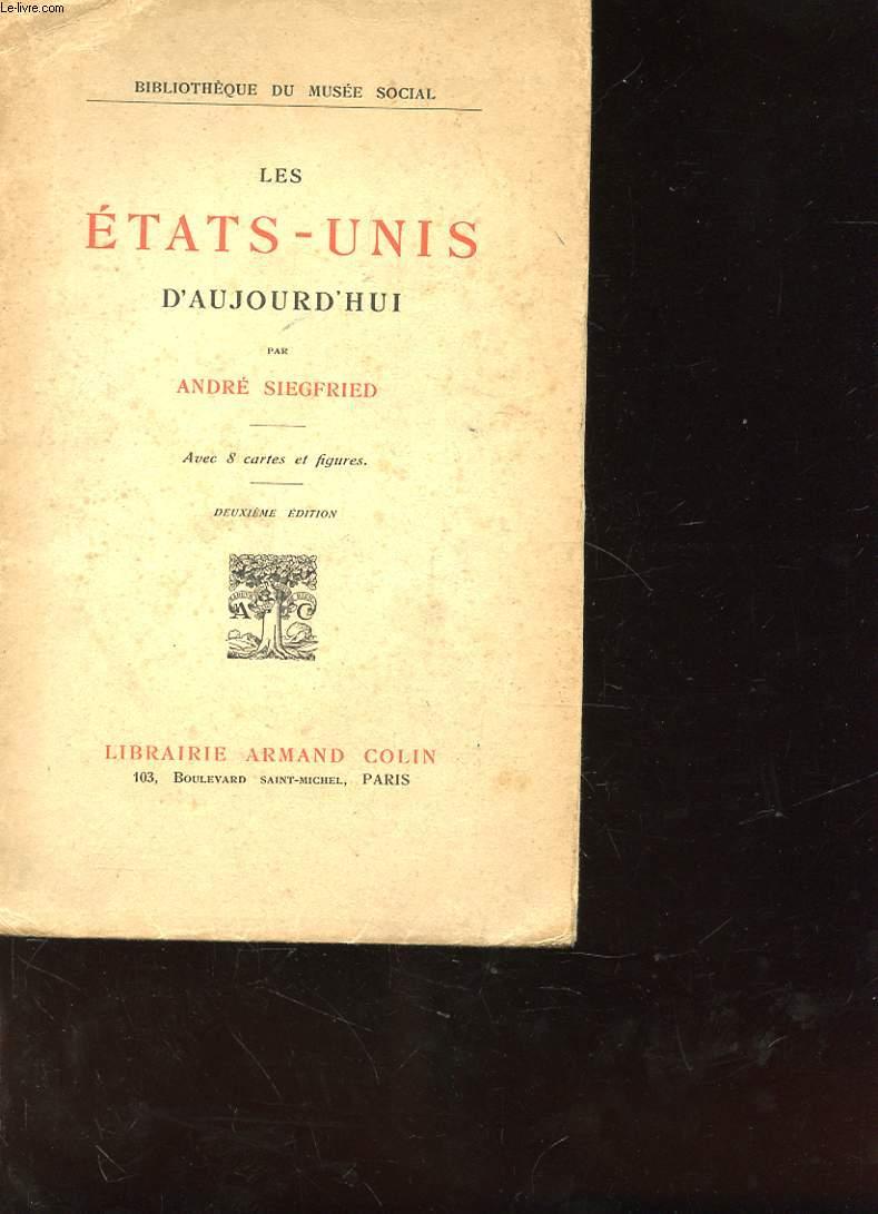 LES ETATS UNIS D'AUJOURD'HUI 2me EDITION
