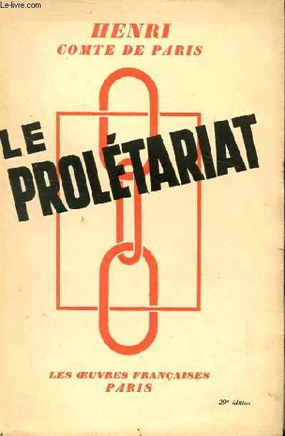 LE PROLETARIAT