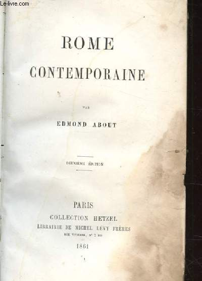 ROME CONTEMPORAINE. DEUXIEME EDITION