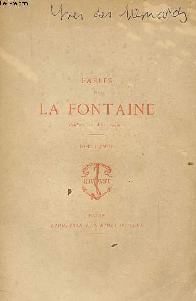 FABLES DE LA FONTAINE. TOME 1