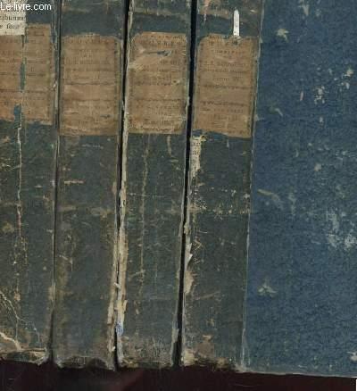 4 PREMIERS TOMES: OEUVRES COMPLETES DE J.J. ROUSSEAU. NOUVELLE EDITION, CLASSEE PAR ORDRE DE MATIERE, ET ORNEE DE 90 GRAVURES.