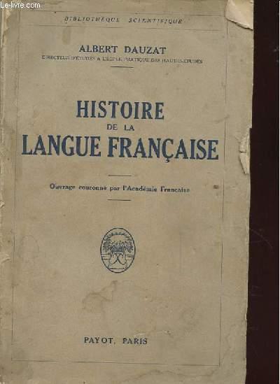 HISTOIRE DE LA LANGUE FRANCAISE