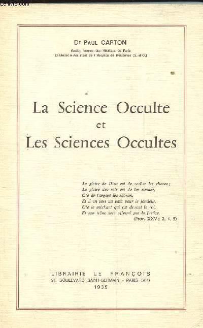 LA SCIENCE OCCULTE ET LES SCIENCES OCCULTES