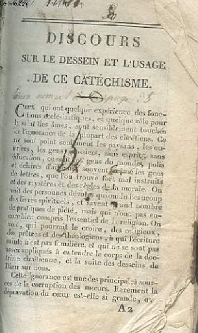 DISCOURS SUR LE DESSEIN ET L'USAGE DE CE CATHECHISME