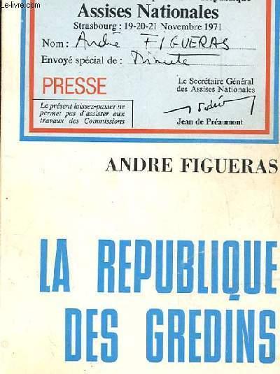 LA REPUBLIQUE DES GREDINS