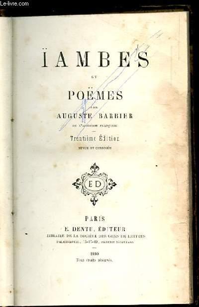 IAMBES ET POEMES. 30 EME EDITION