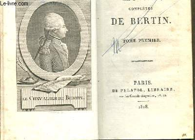 OEUVRES COMPLETES DE BERTIN. TOME 1