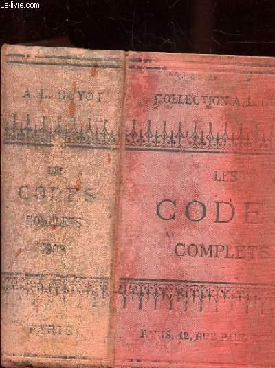 LES CODES COMPLETS COMPRENANT TOUTES LES MODIFICATIONS APPORTEES AUX LOIS JUSQU'A CE JOUR SUIVIS D'UNE TABLE-DICTIONNAIRE RENDANT LES RECHERCHES FACILES ET DES LOIS CONSTITUTIONNELLES ET ORGANIQUES