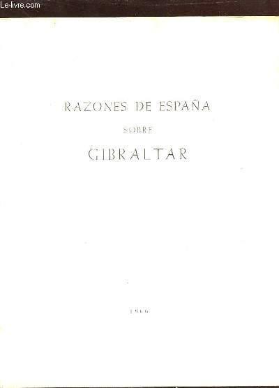 RAZONES DE ESPANA SOBRE GIBRALTAR