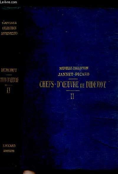 CHEFS-D'OEUVRE DE DIDEROT. TOME 1 et 2