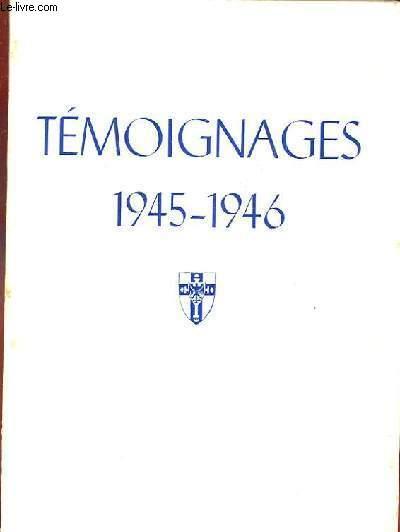 TEMOIGNAGES 1945-1946