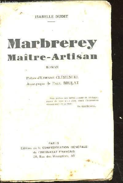 MARBREREY MAITRE-ARTISAN. ROMAN