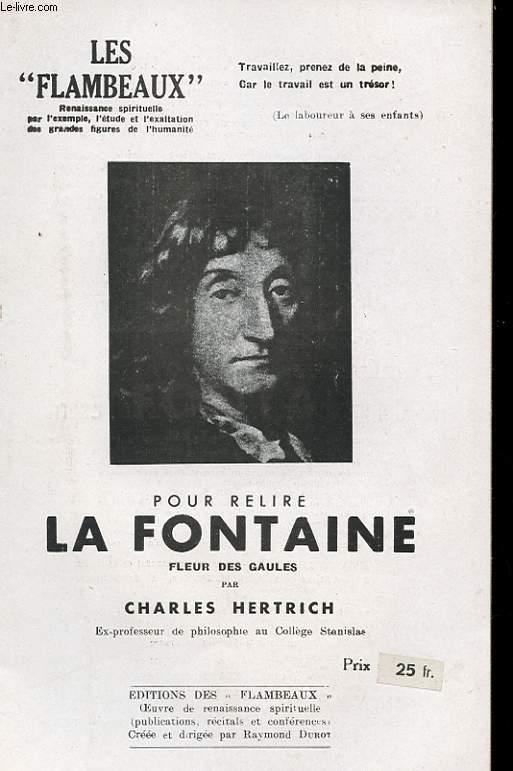 POUR RELIRE LA FONTAINE. FLEUR DES GAULES.