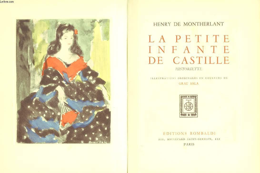 LA PETITE INFANTE DE CASTILLE. HISTORIETTE