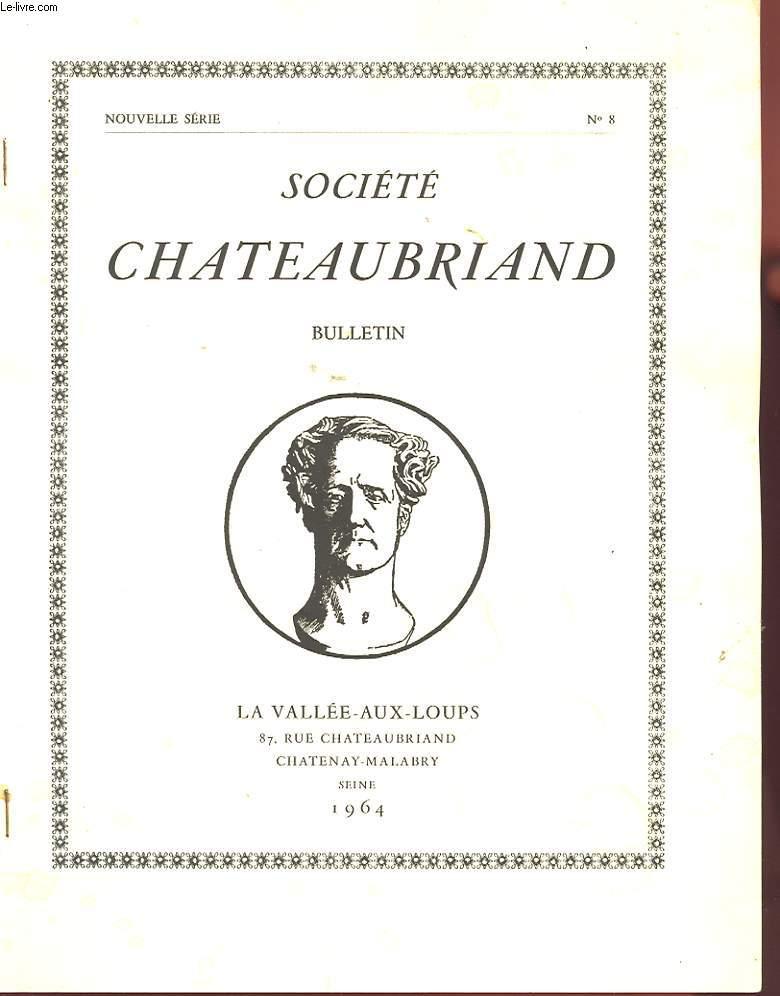 SOCIETE CHATEAUBRIAND. BULLETIN N°8. NOUVELLE SERIE. CHATEAUBRIAND ET L'AVOCAT LEDRU