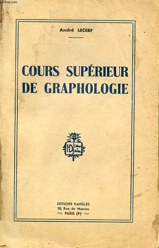 COURS SUPERIEUR DE GRAPHOLOGIE