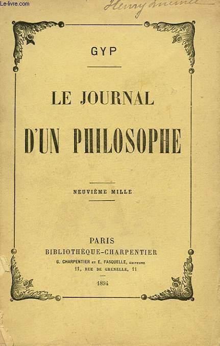 LE JOURNAL D'UN PHILOSOPHE. NEUVIEME MILLE