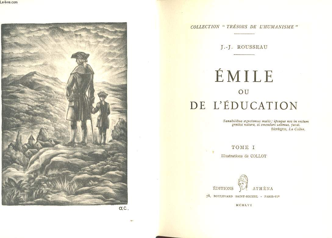 EMILE OU L'EDUCATION. 2 TOMES