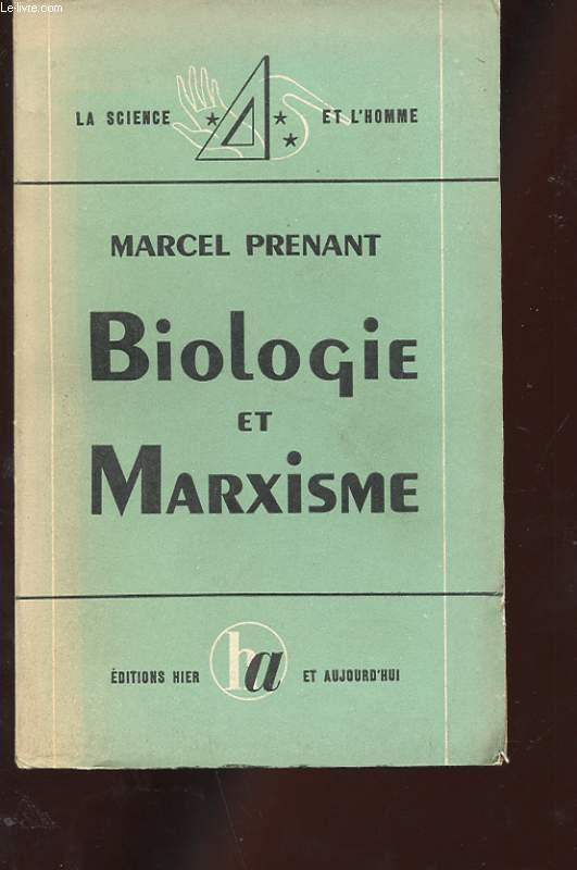 BIOLOGIE ET MARXISME