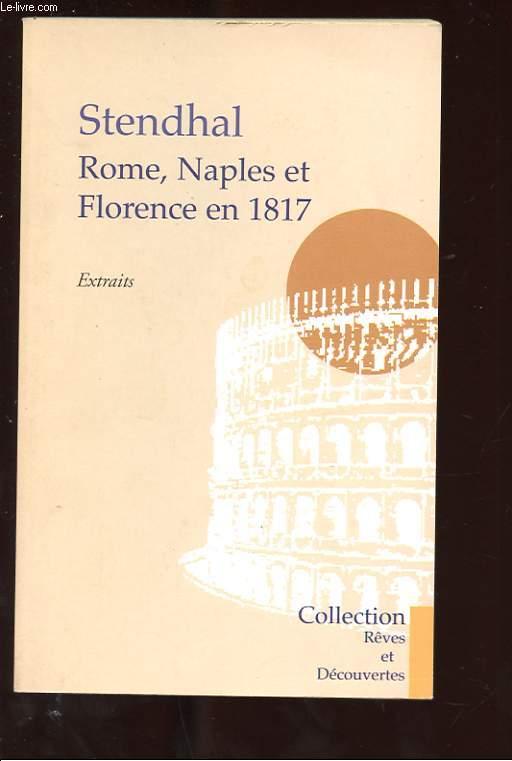 ROME, NAPLES ET FLORENCE EN 1817. EXTRAITS