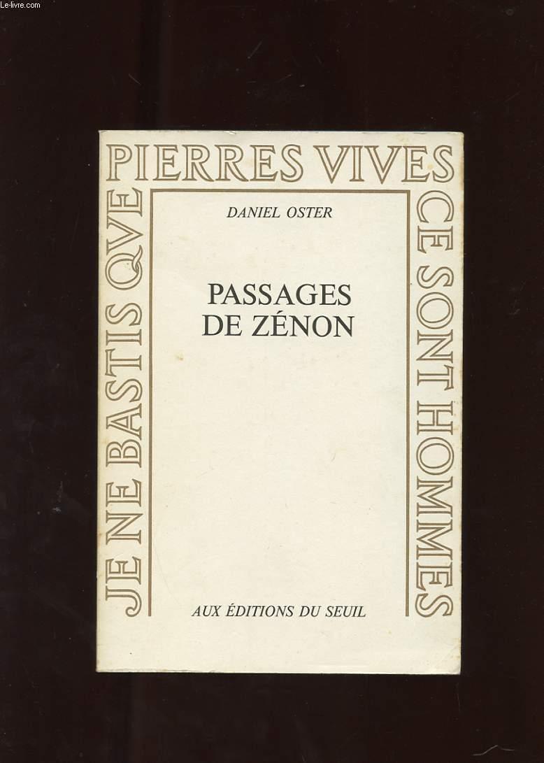 PASSAGES DE ZENON. ESSAI SUR L'ESPACE ET LES CROYANCES LITTERAIRES