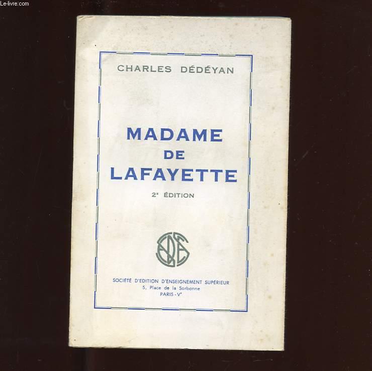 MADAME DE LAFAYETTE