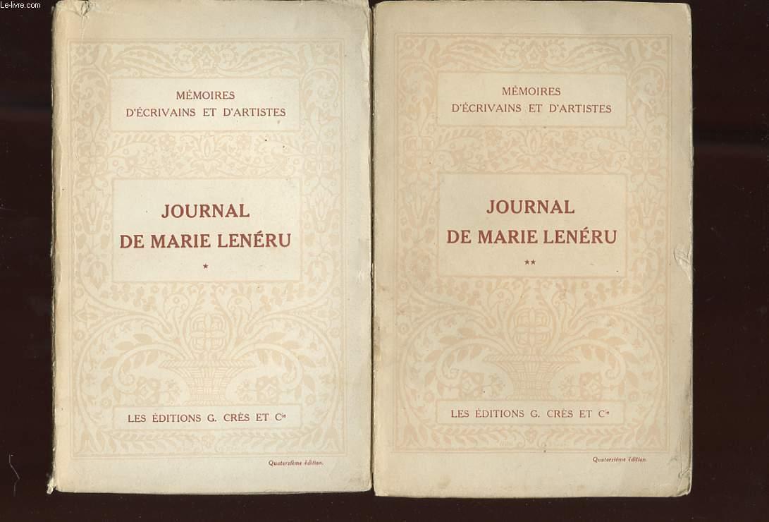 JOURNAL DE MARIE LENERU. 2 TOMES