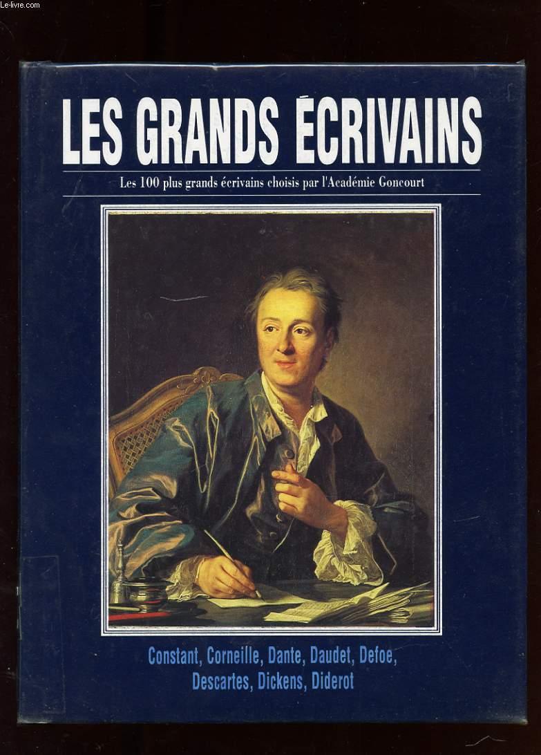 LES GRANDS ECRIVAINS. VOLUME III. BENJAMIN CONSTANT. CORNEILLE. DANTE. ALPHONSE DAUDET. DANIEL DEFOE. DESCARTES. CHARLES DICKENS. DIDEROT