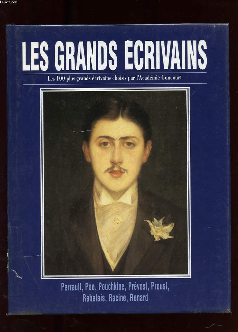 LES GRANDS ECRIVAINS. VOLUME IX. PERRAULT. EDGAR POE. POUCHKINE. L'ABBE PREVOST. MARCEL PROUST. RABELAIS. RACINE. JULES RENARD