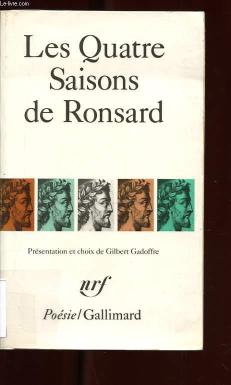 LES QUATRE SAISONS DE RONSARD
