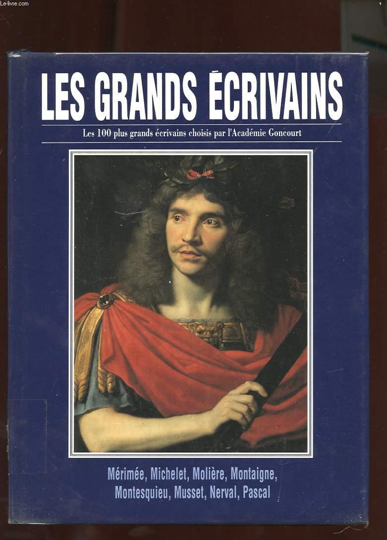 LES GRANDS ECRIVAINS. VOLUME VIII. MERIMEE, MICHELET, MOLIERE, MONTAIGNE, MONTESQUIEU, MUSSET, NERVAL, PASCAL