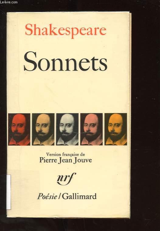 SONNETS. VERSION FRANCAISE DE PIERRE JEAN JOUVE