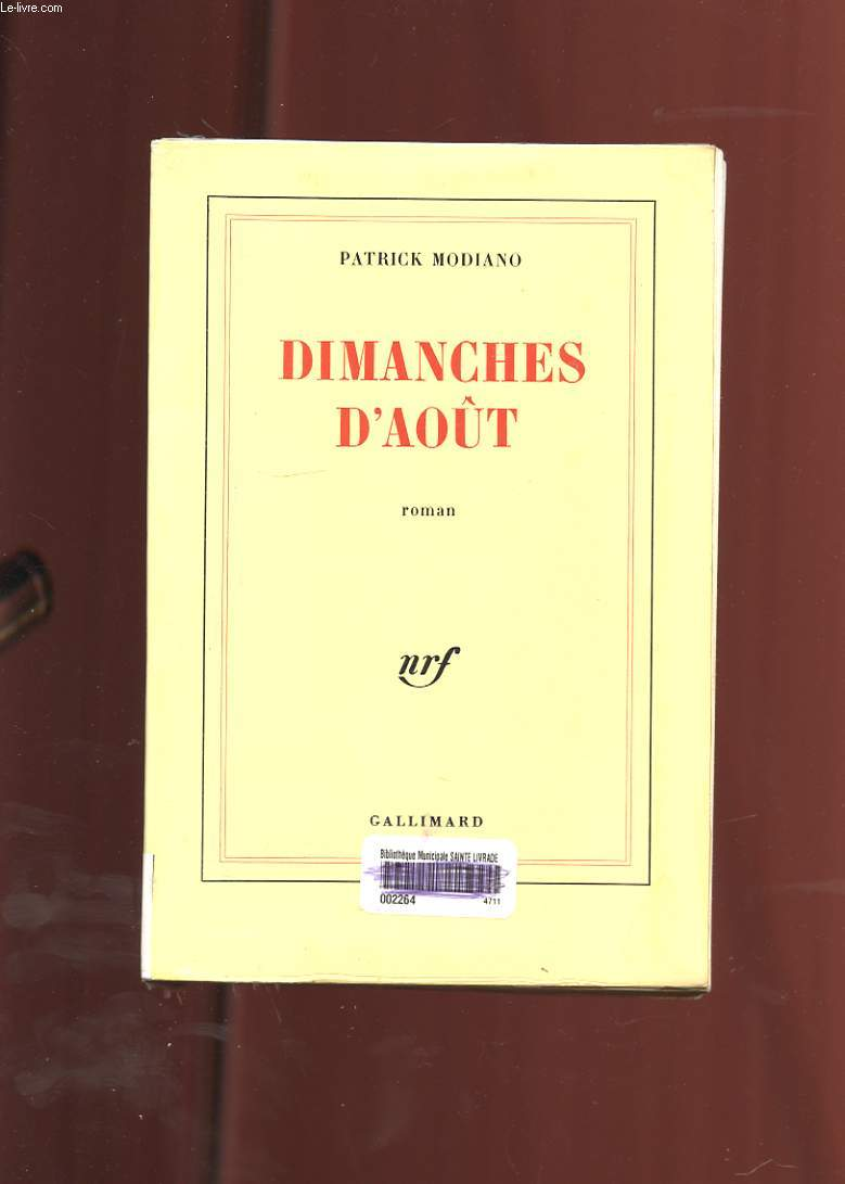 DIMANCHES D'AOUT. ROMAN