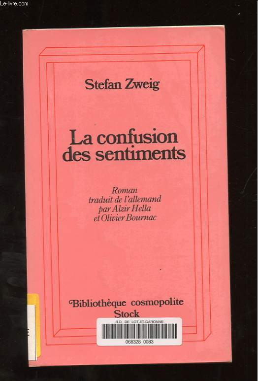 LA CONFUSION DES SENTIMENTS (NOTES INTIMES DU PROFESSEUR R. DE D.)
