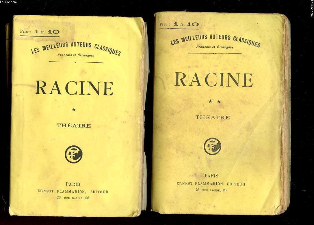 THEATRE COMPLET DE J. RACINE. THEATRE. TOME 1 ET 2.