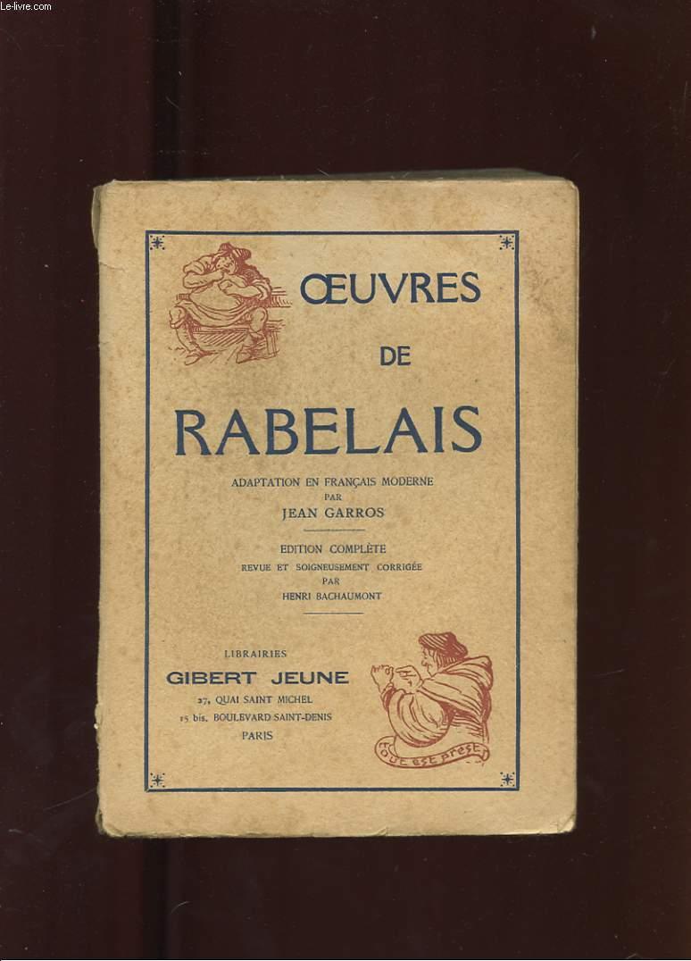 OEUVRES DE RABELAIS.