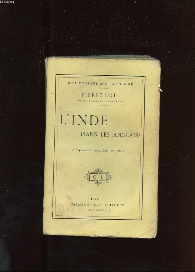 L'INDE ( SANS LES ANGLAIS )