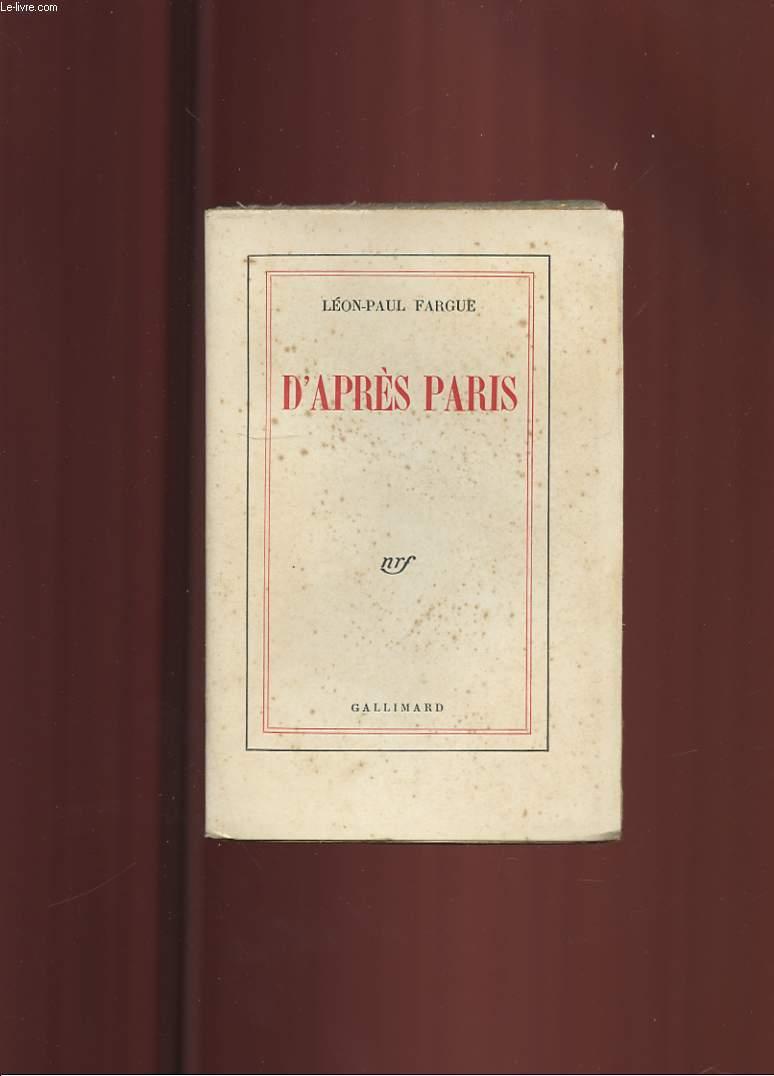 D'APRES PARIS