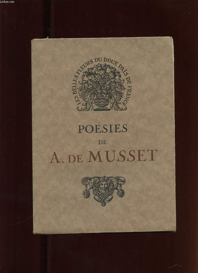 POESIES DE ALFRED DE MUSSET