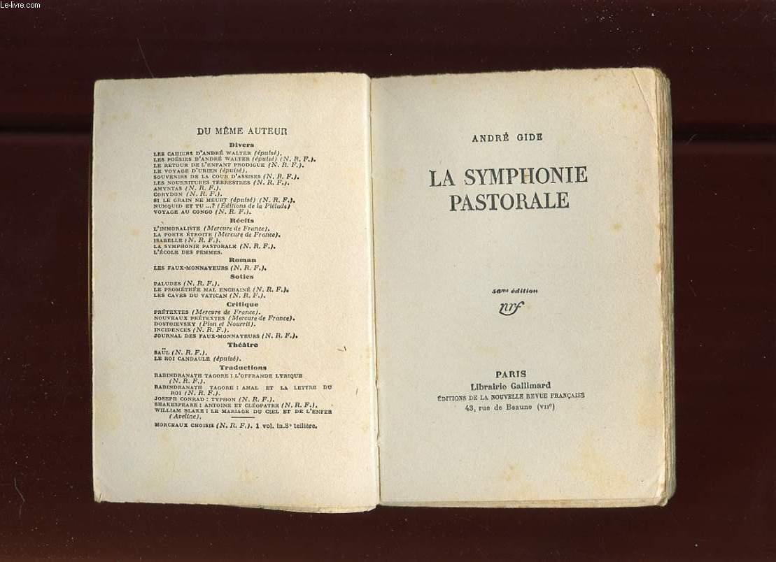 LA SYMPHONIE PASTORALE