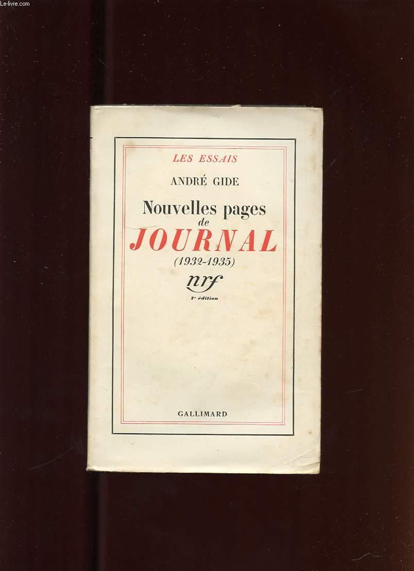 NOUVELLES PAGES DE JOURNAL (1932-1935)
