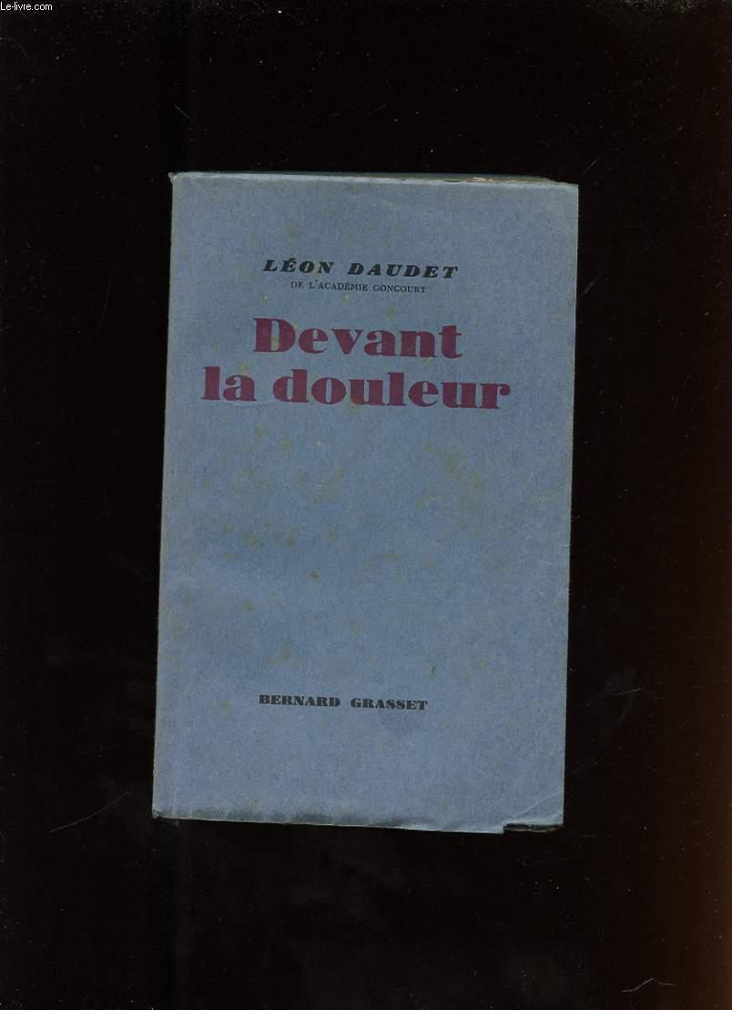 DEVANT LA DOULEUR