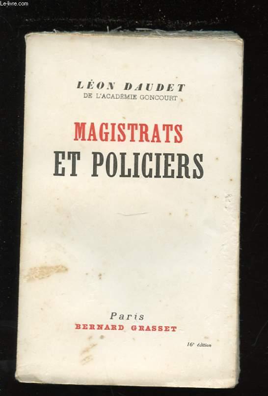 MAGISTRATS ET POLICIERS